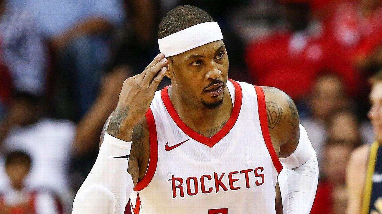 Representantes de Carmelo Anthony buscan nuevo equipo para el jugador