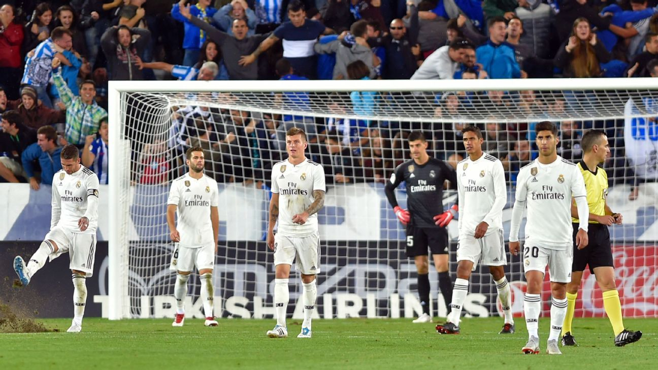 Real Madrid remain goalless in four games after shock loss to Alaves