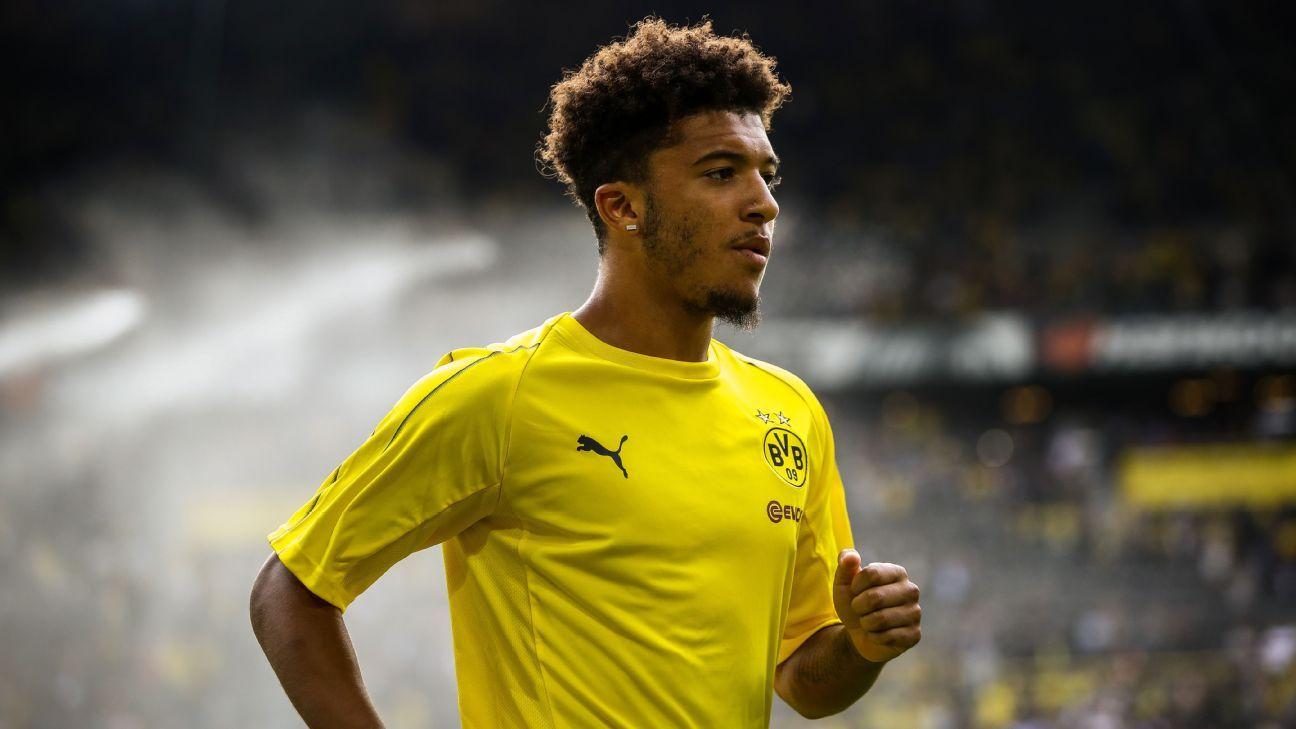 Manchester United quer Jadon Sancho, mas Borussia Dortmund pede R$ 495 milhões, diz jornal