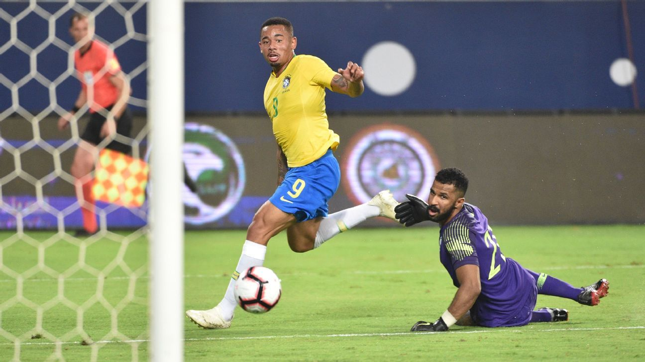 Gabriel Jesus and Alex Sandro give Brazil win over Saudi Arabia