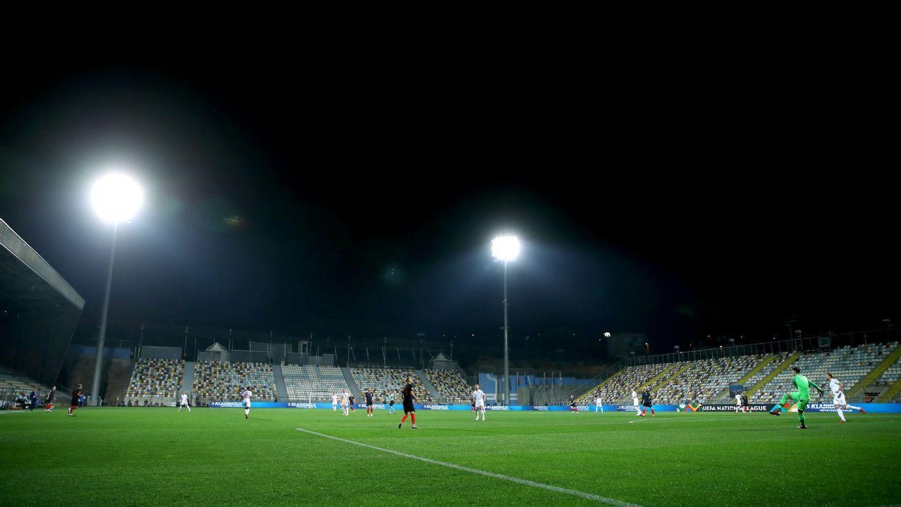 No fans, no goals: Croatia and England play out surreal encounter