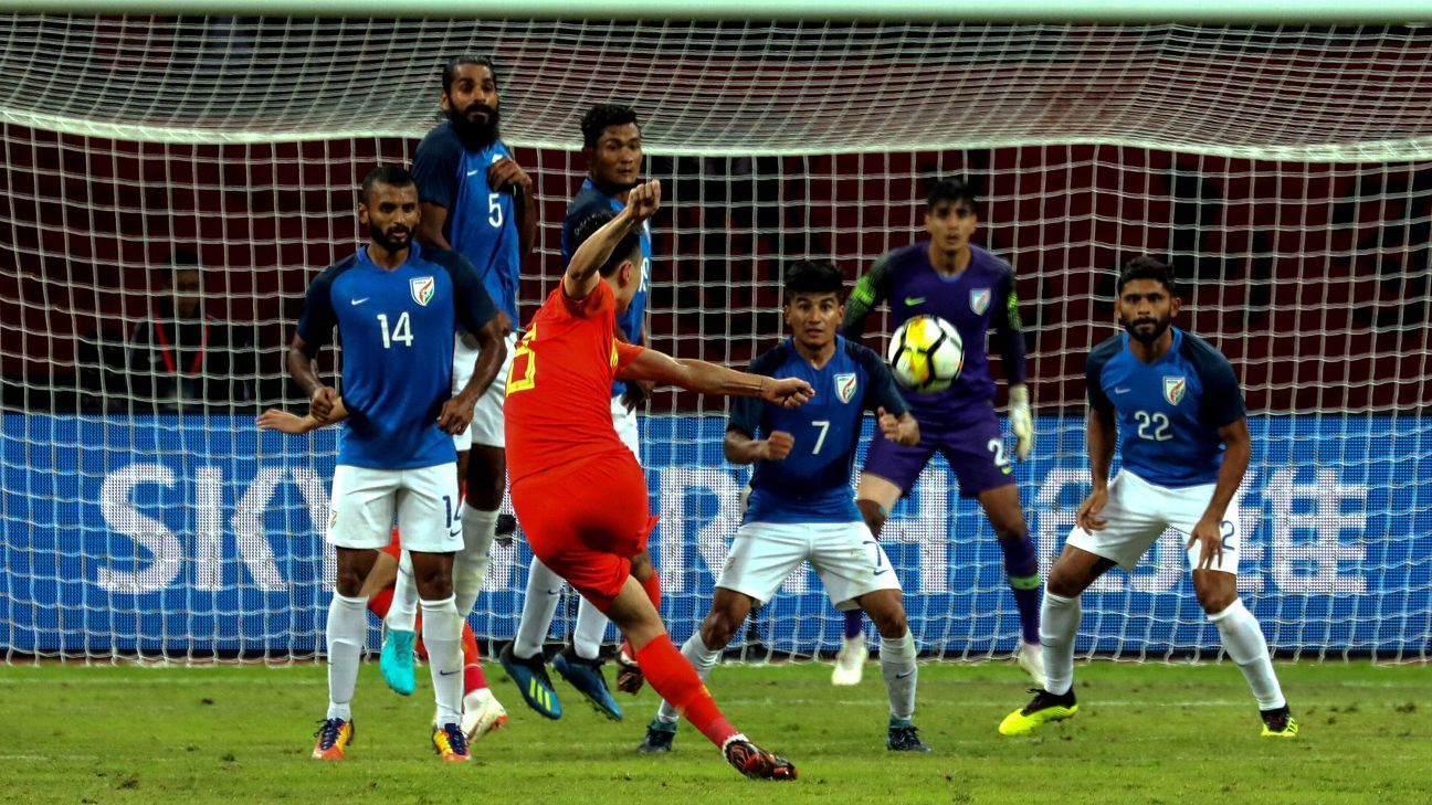 China fail to score again as India claim goalless draw in friendly