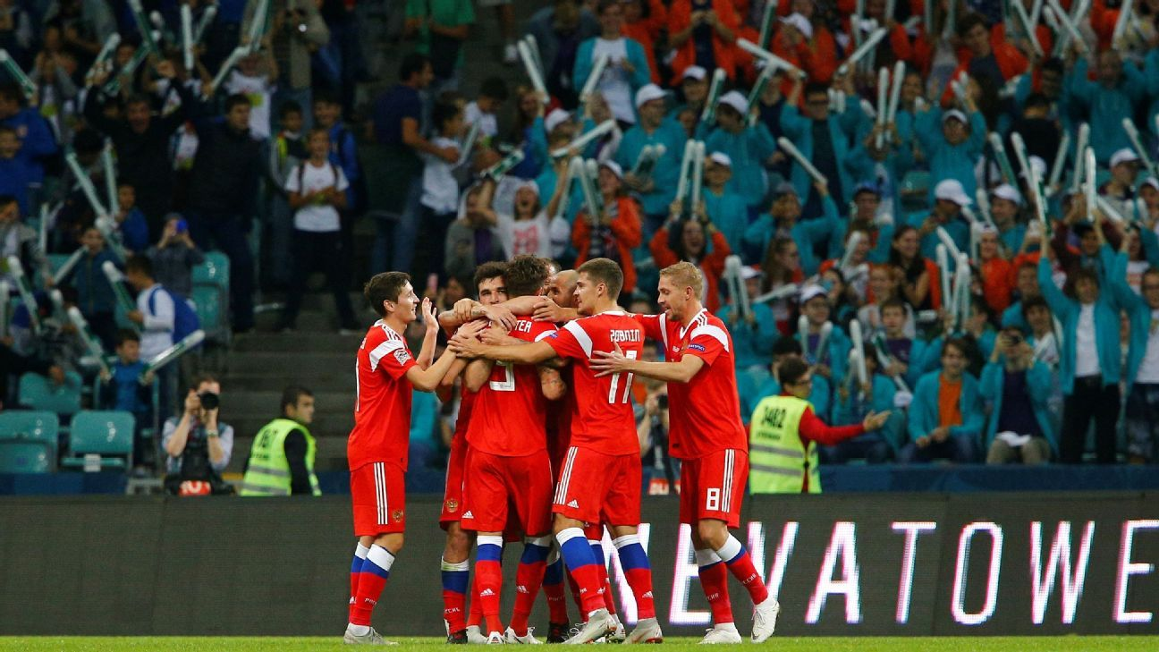 Russia ease past Turkey in UEFA Nations League