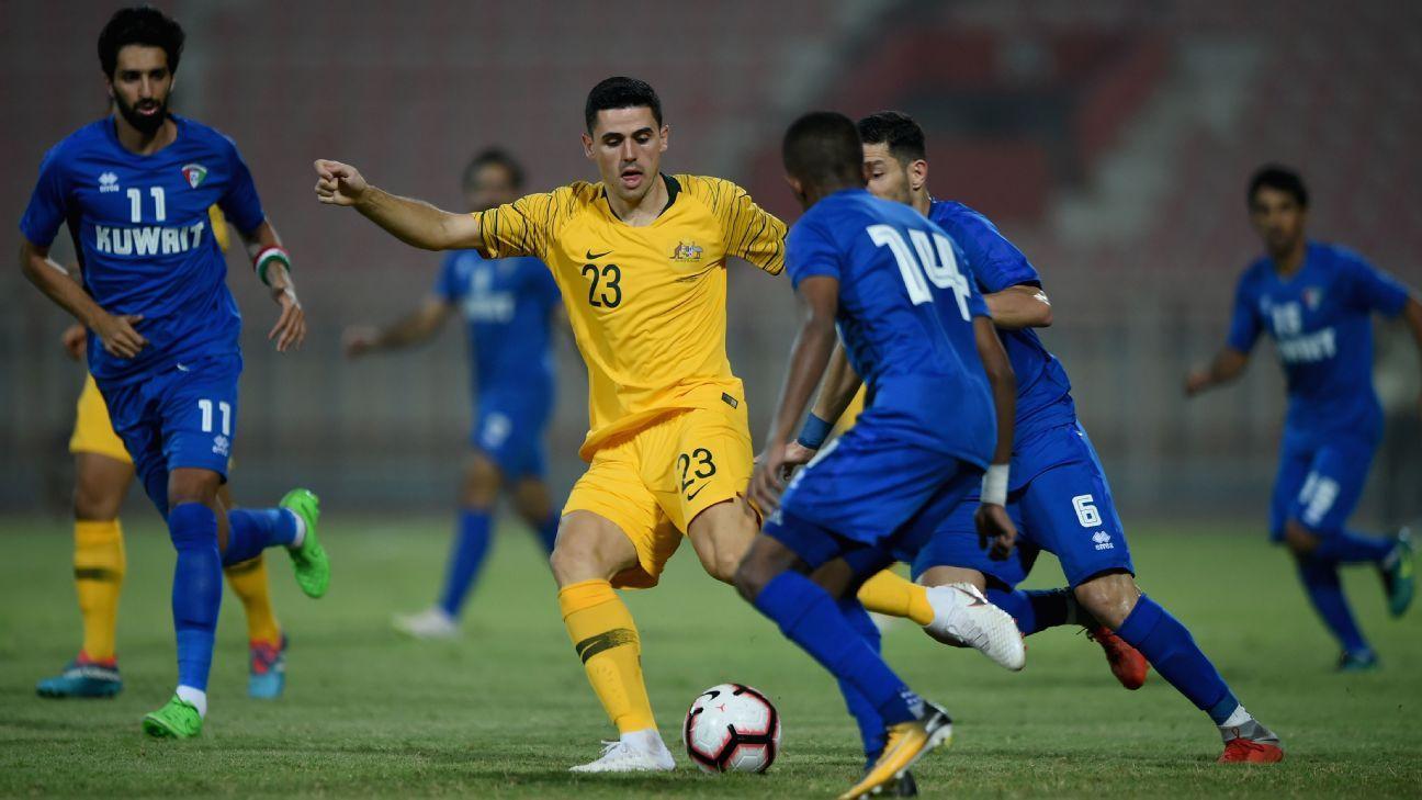 Australia's Tom Rogic pulls the strings in dominant Socceroos win against Kuwait