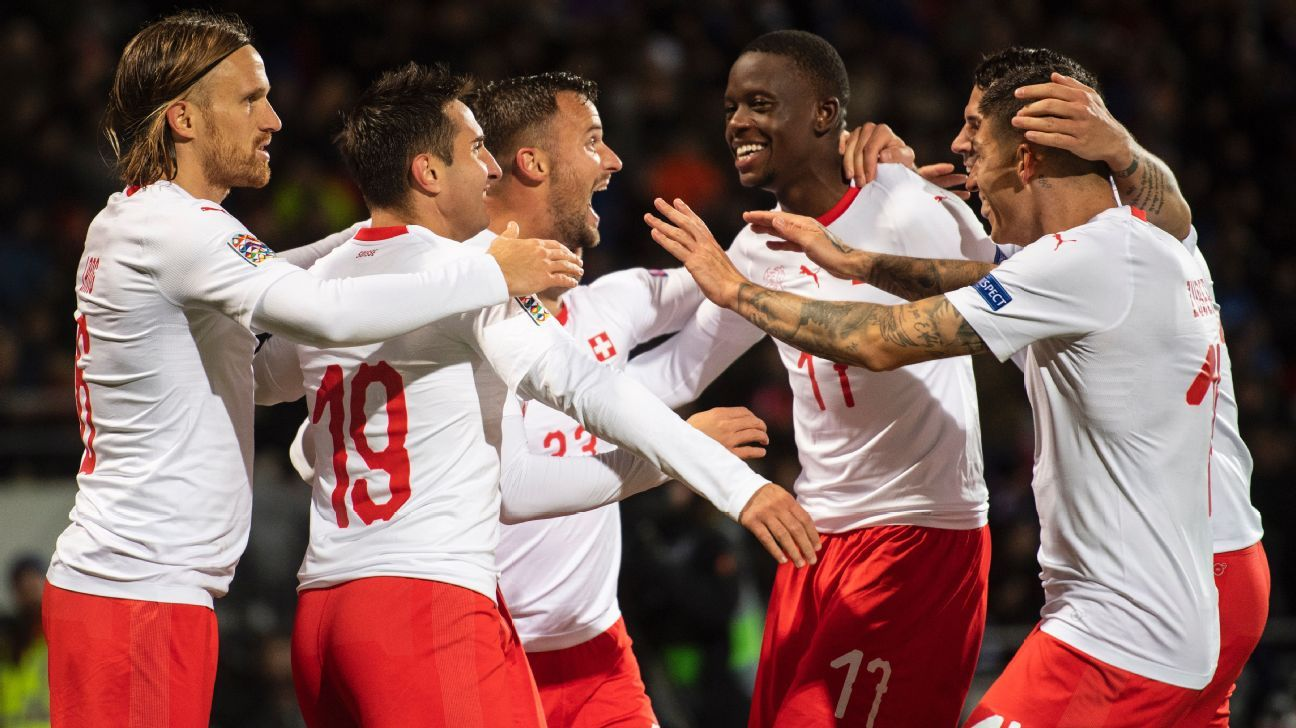 Switzerland hopes alive in Nations League as Iceland relegated in defeat