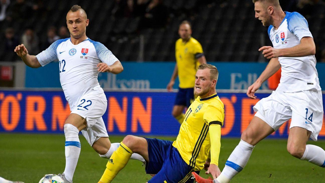 John Guidetti breaks scoring drought as Sweden draw Slovakia