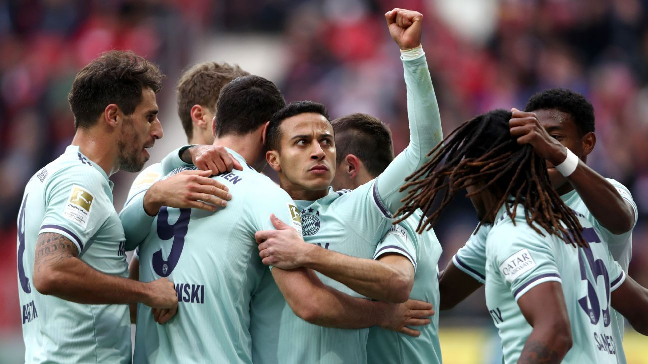 Bayern Munich edge Mainz 2-1, close gap to leaders Borussia Dortmund