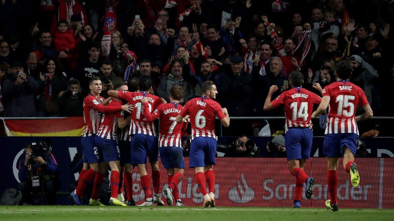 Atletico Madrid go top of La Liga after seeing off Real Sociedad