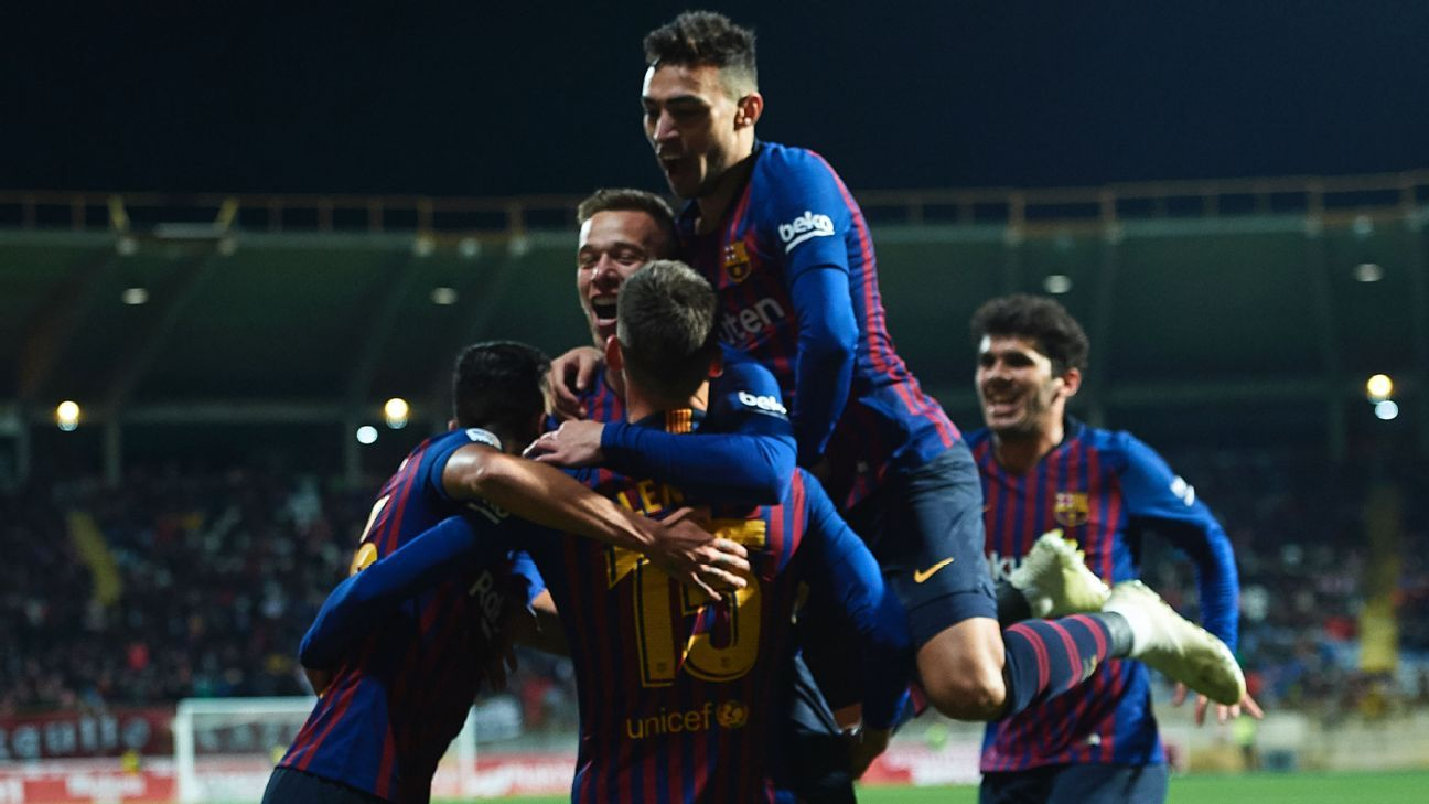 Barcelona beat Cultural Leonesa in Copa del Rey with Clement Lenglet header