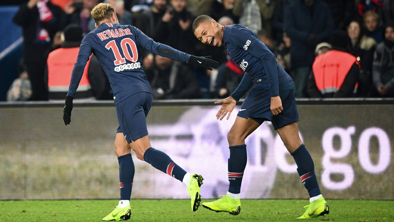 Mbappe, Neymar score as PSG collect record 12th straight win to start season