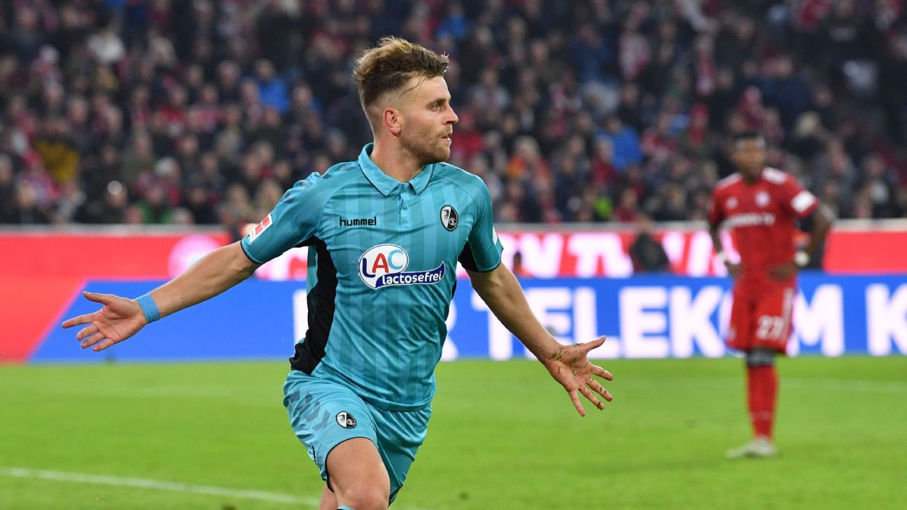 Bayern Munich stunned at home by late equaliser from Freiburg