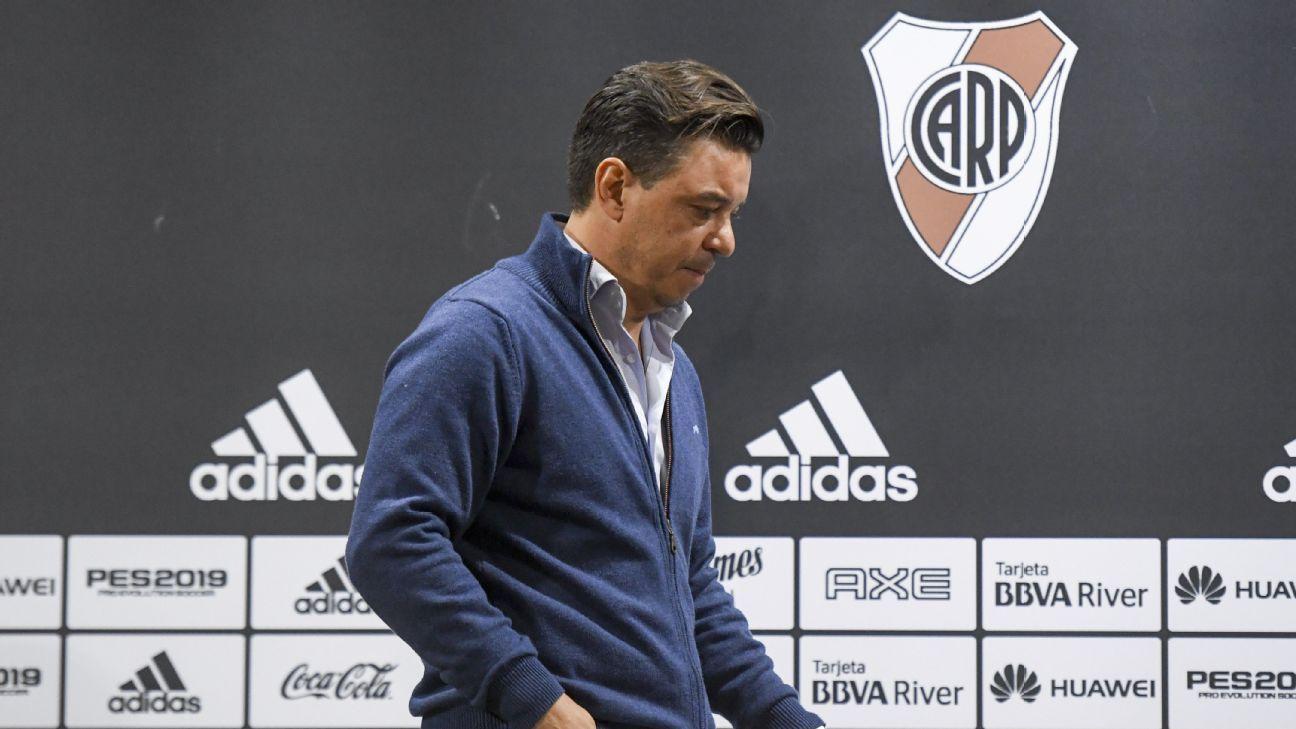 CONMEBOL reject Gremio's Copa Libertadores appeal, fine River Plate manager Marcelo Gallardo