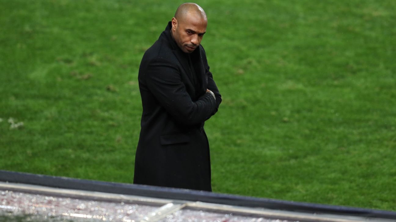 Thierry Henry backed by Monaco as struggles continue with PSG thrashing