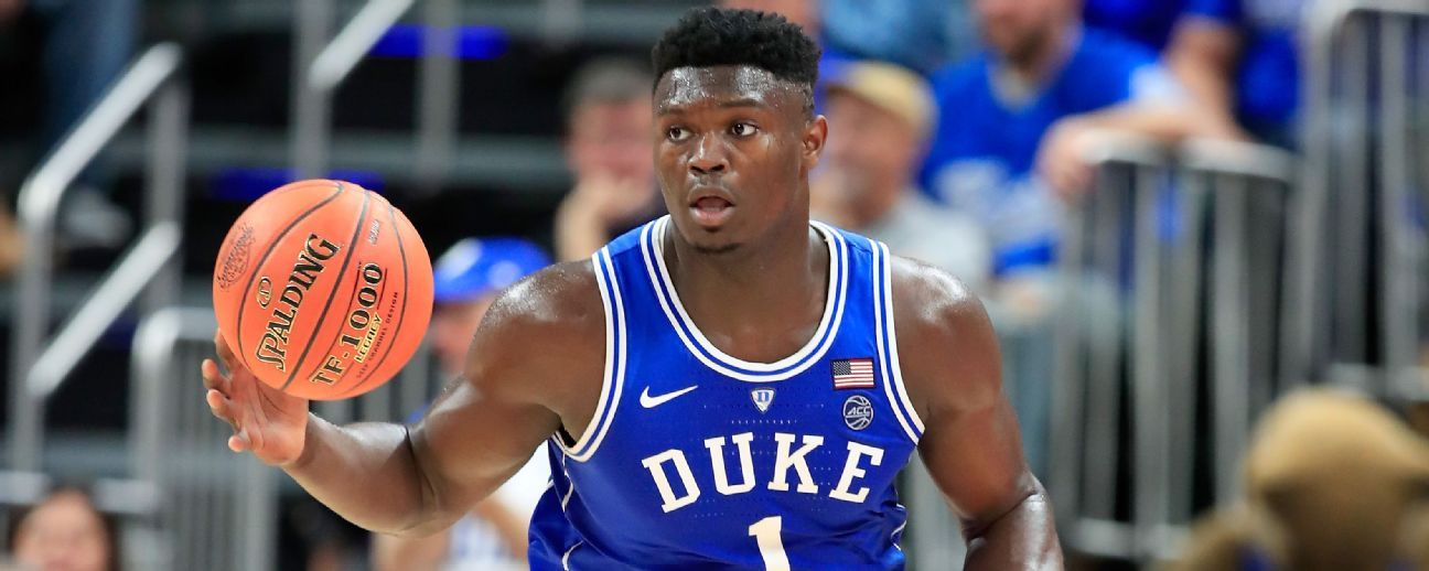 Zion Williamson favorito para ser Nº1 del NBA draft 2019