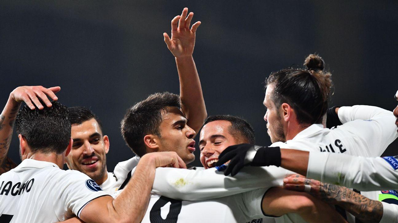 Karim Benzema scores twice as Real Madrid thrash Viktoria Plzen