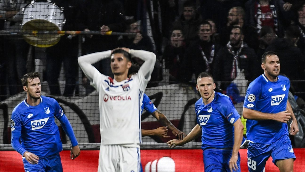 Hoffenheim fight back to draw with Lyon and keep Champions League hopes alive