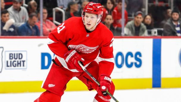 The education of Red Wings rookie Dennis Cholowski