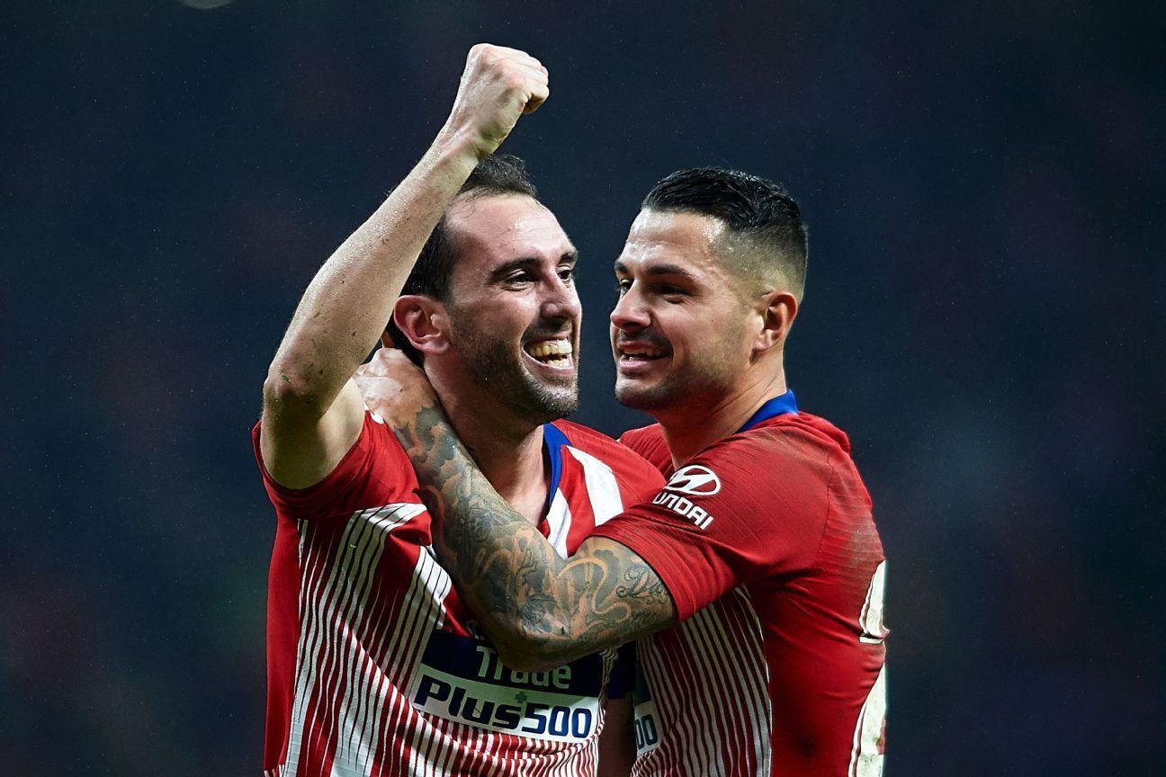 Atletico Madrid's Diego Godin: I hope comeback win propels La Liga title challenge