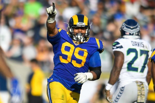 Aaron Donald fined for going after Justin Britt, vows to control temper