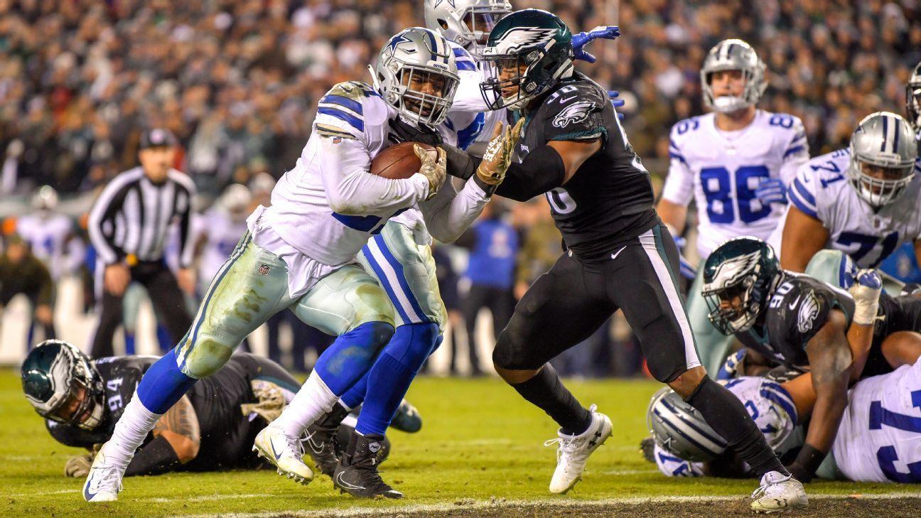 NFL: Dallas Cowboys vence Philadelphia Eagles fora de casa e 'salva' temporada