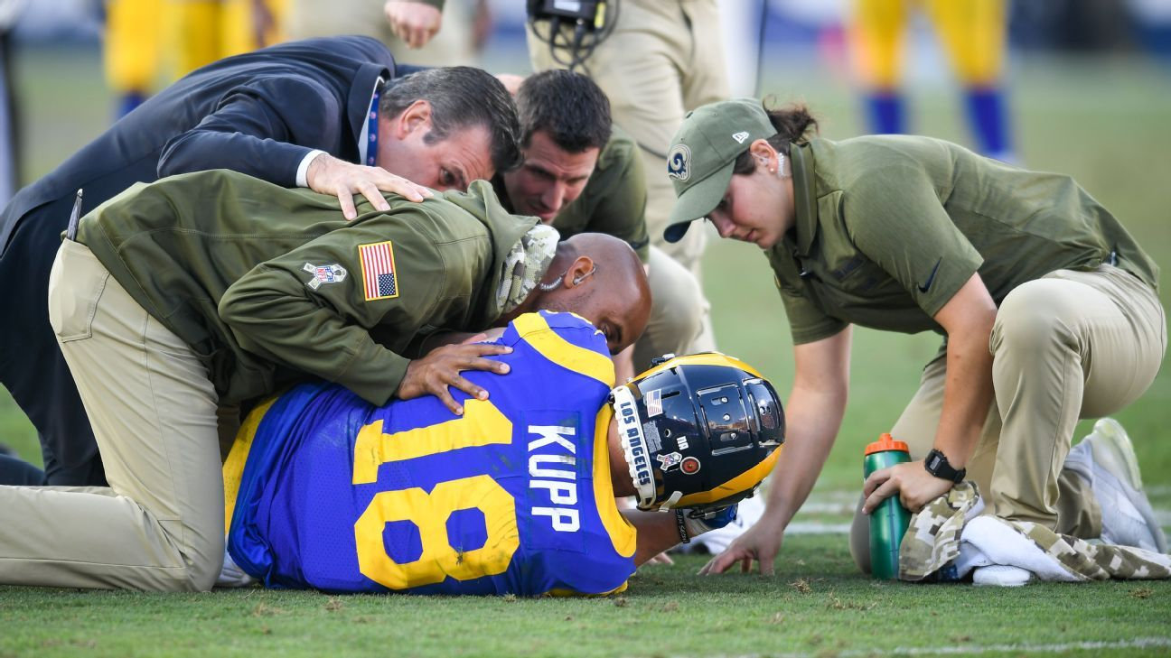 Cooper Kupp, receptor de los Rams, se perderá el resto de la temporada
