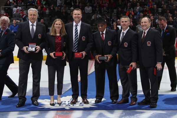 NHL welcomes Willie O'Ree, Gary Bettman, Martin Brodeur among Hall of Fame inductees