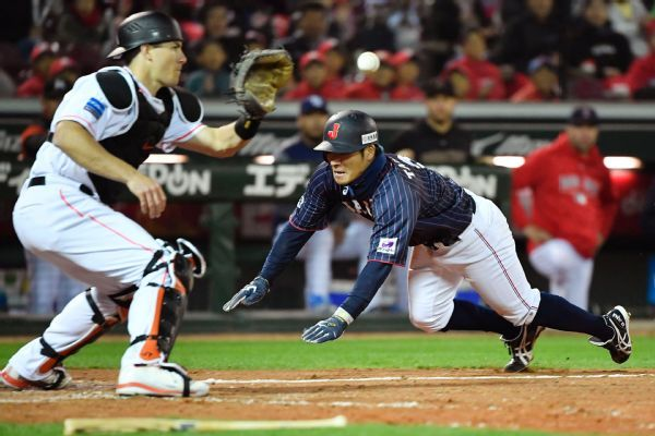 Japan scores four runs in 9th to beat MLB All-Stars, leads series 3-1