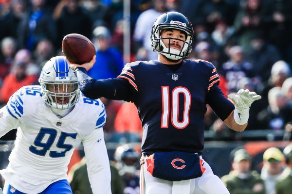 Bears list QB Mitchell Trubisky as doubtful for Thanksgiving game vs. Lions