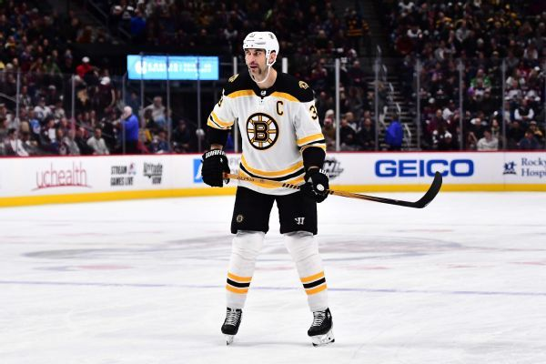 Boston Bruins' Zdeno Chara to miss four weeks with knee injury