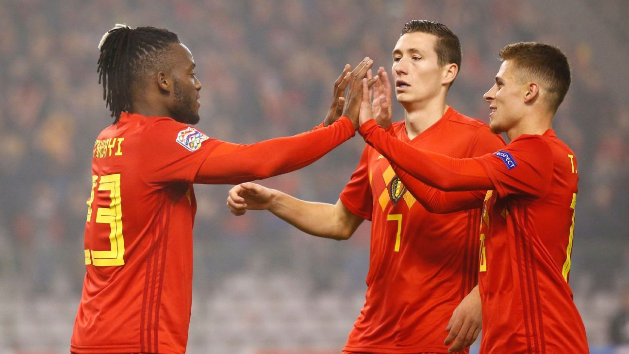 Belgium close on Nations League finals with win against relegated Iceland