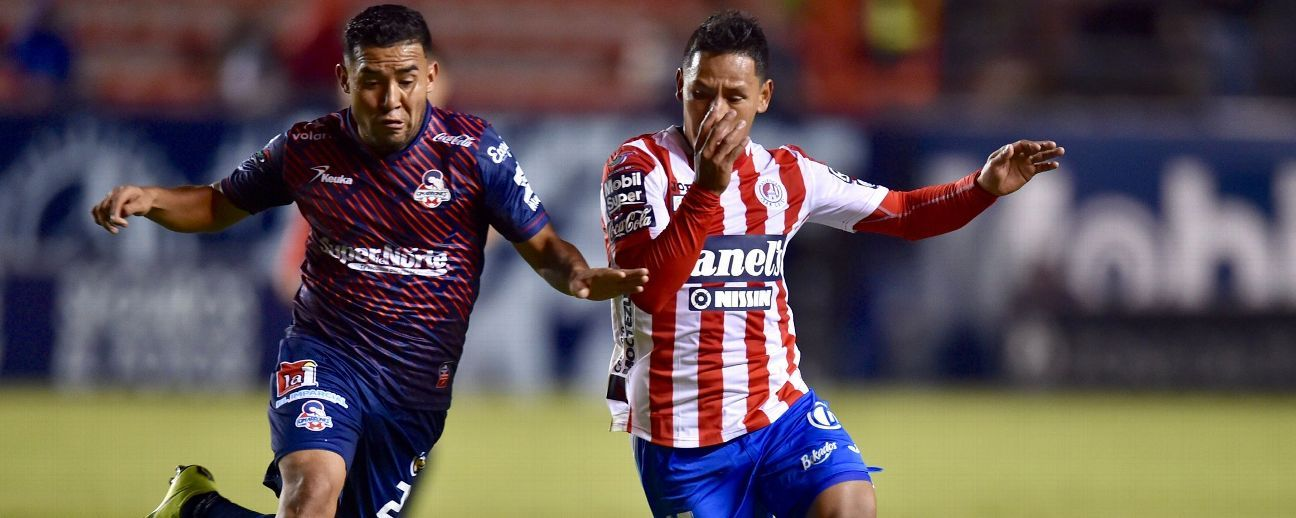 San Luis y Cimarrones igualan a cero goles en el juego de ida