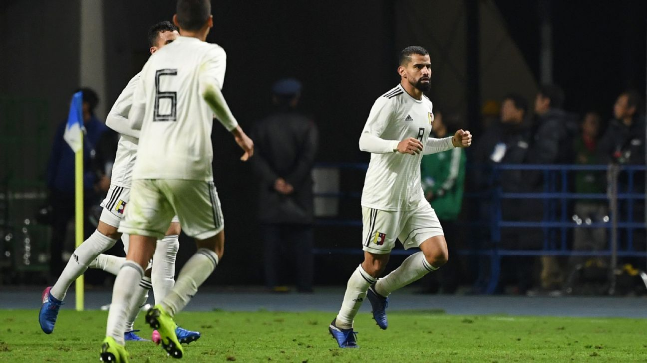 Late Tomas Rincon penalty clinches draw for Venezuela against Japan