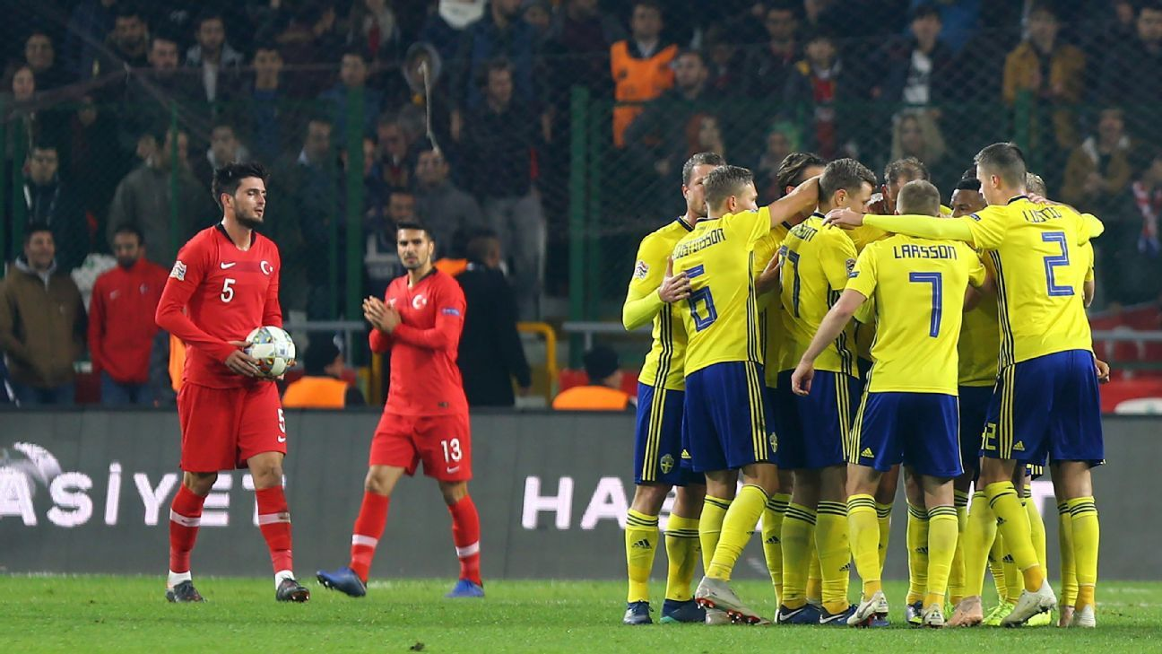 Sweden beat Turkey to set up Nations League showdown with Russia