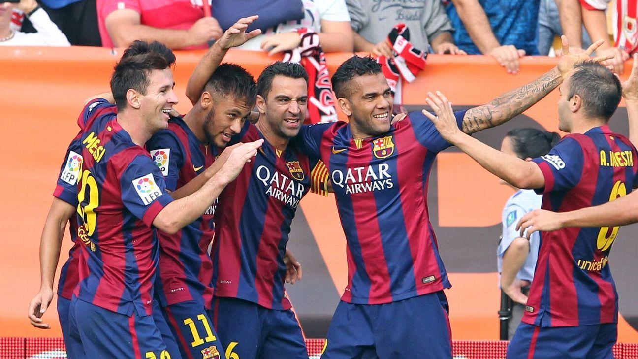 Daniel Alves monta seu jogador ideal para o Barcelona; veja como ele ficou