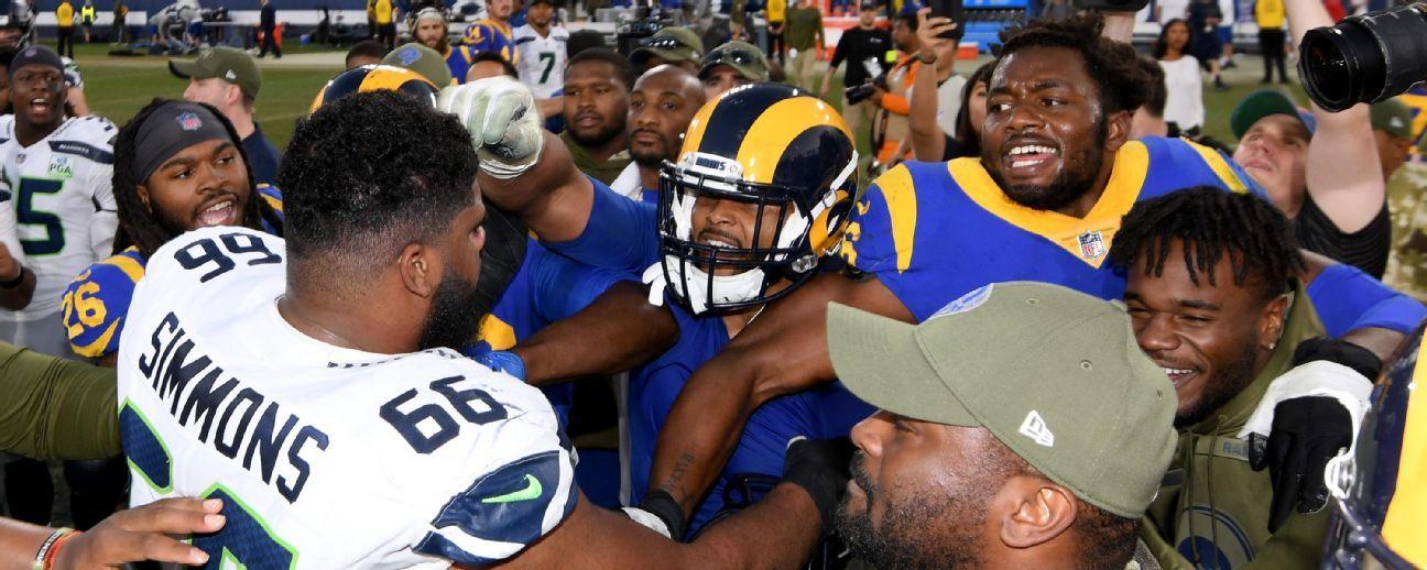 NFL multa a Aaron Donald, Rams, por buscar pelea tras juego vs. Seahawks