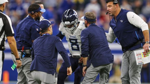 Titans suffer letdown with lopsided loss, Marcus Mariota's injury