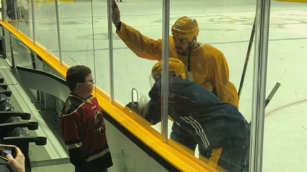 Predators, Gladiators make wishes come true for young fan from Northern Ireland