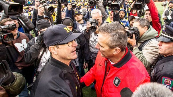 Why the stakes have never been higher for Urban Meyer and Jim Harbaugh