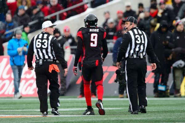 Suspended Ottawa CB Jonathan Rose hopes appeal will let him play in Grey Cup