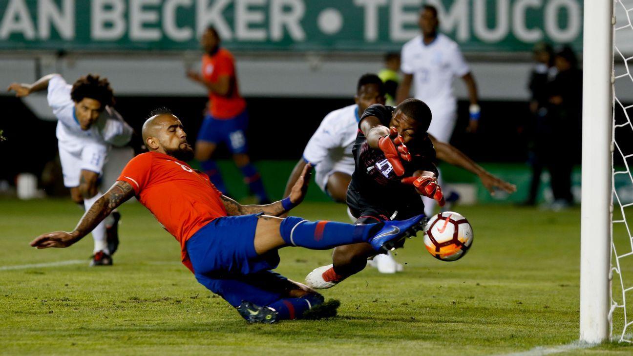 Chile goleó 4-1 a Honduras