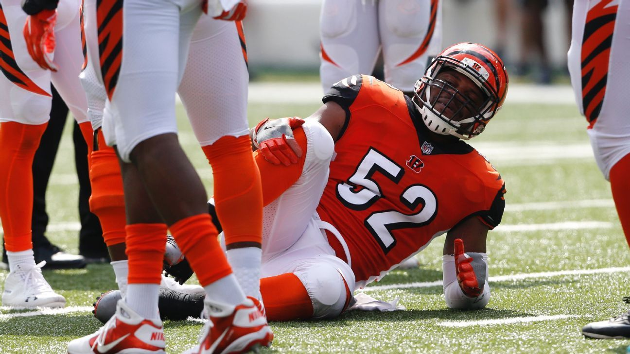 Lesión deja a los Bengals sin su linebacker medio, Preston Brown