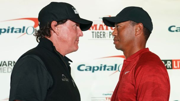Tale of the tape: Tiger vs. Phil