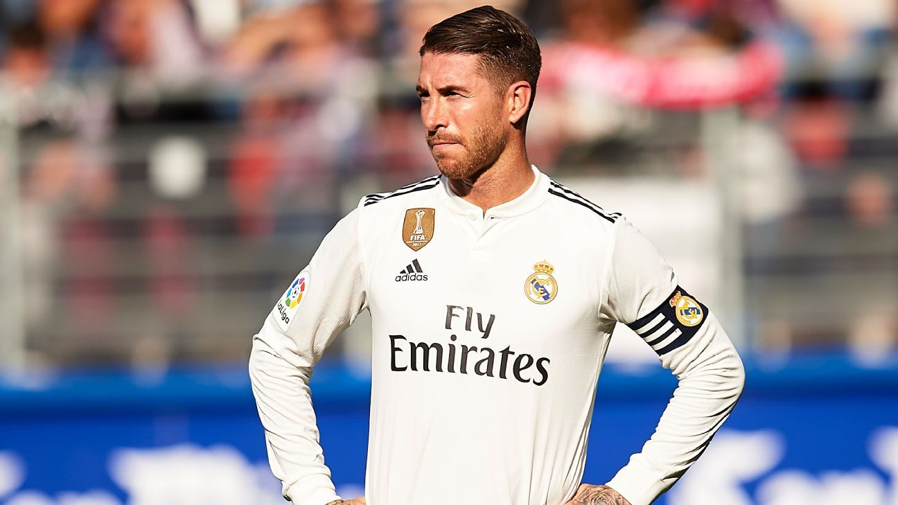 Ramos sent off in shock Real Madrid defeat but won't miss Clasico