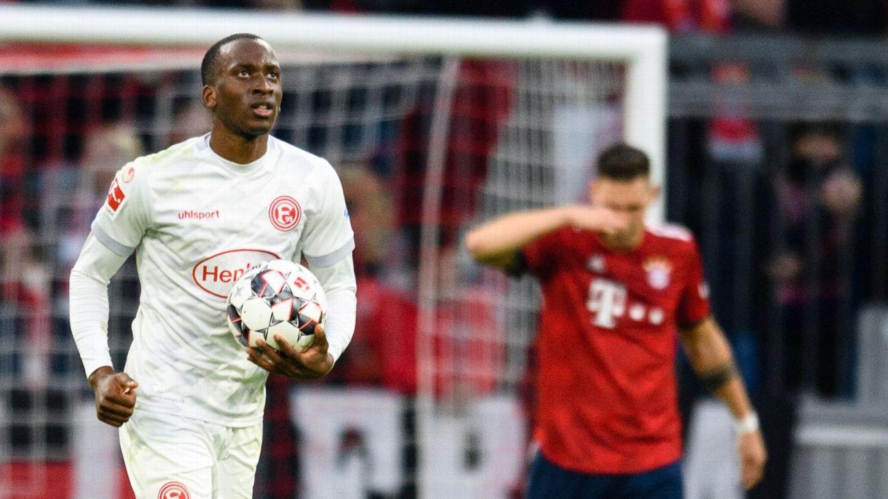 Bayern Munich held to draw at home by Fortuna Dusseldorf