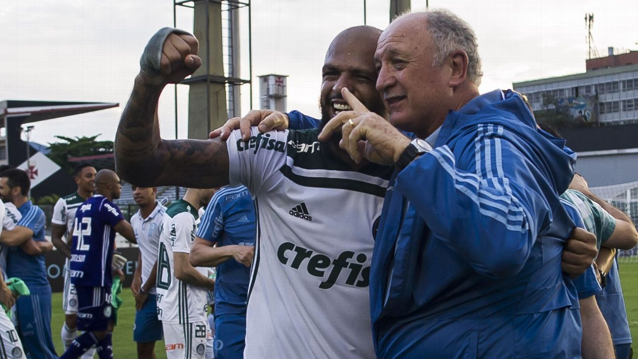 Ex-Brazil boss Luiz Felipe Scolari leads Palmeiras to Brazilian title