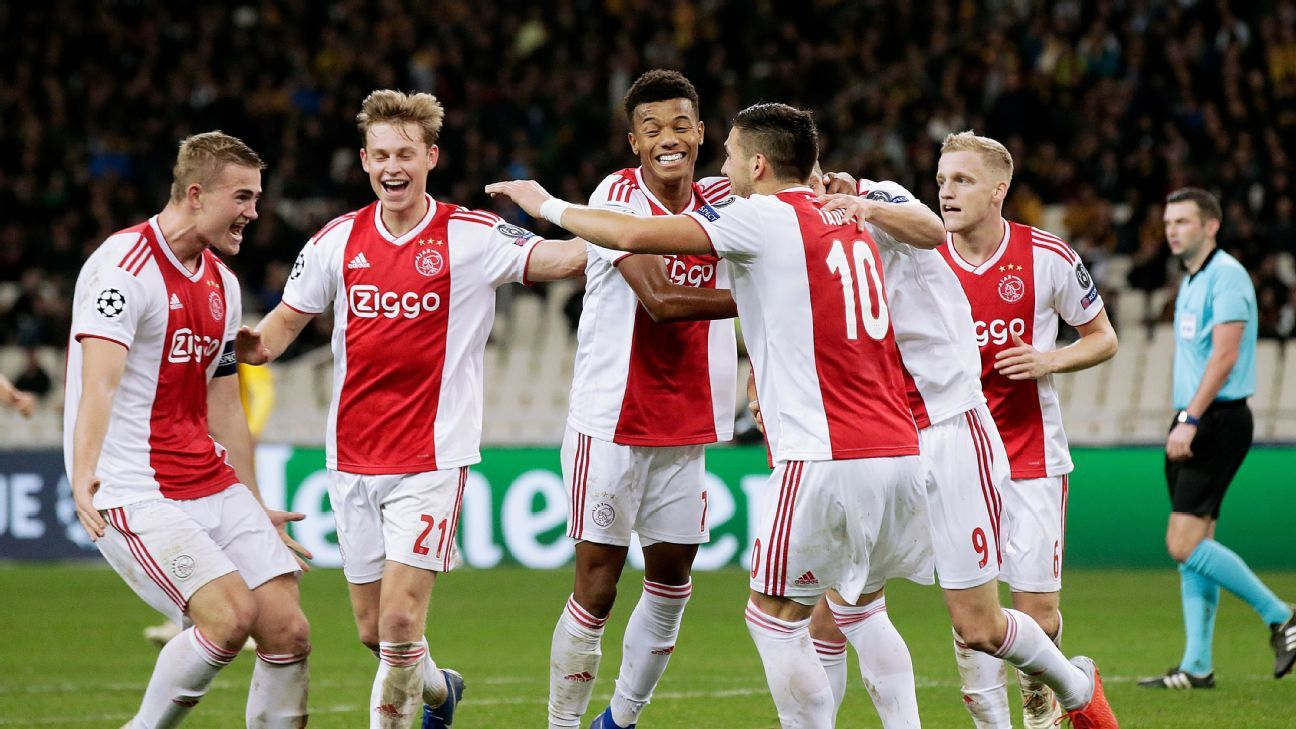 Dusan Tadic double sends Ajax into Champions League round of 16