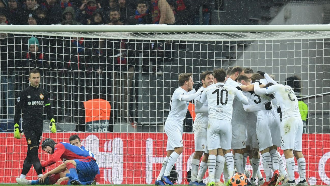 CSKA beaten by Viktoria Plzen to send Real Madrid, Roma through