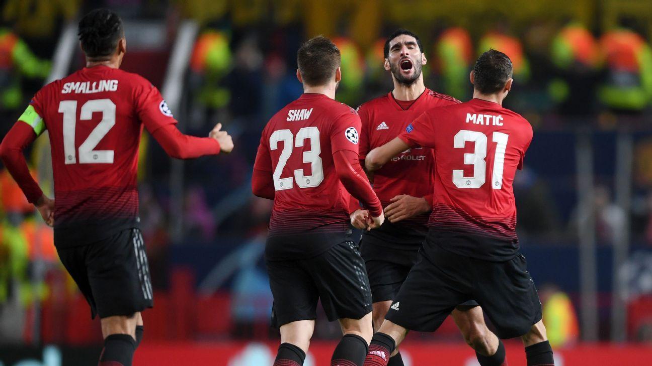 Marouane Fellaini's late strike rescues Man United as Jose Mourinho, attack misfire again