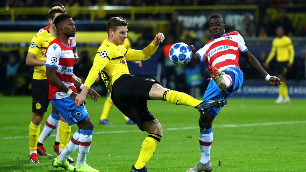 Borussia Dortmund reach knockout stages after 0-0 draw against Club Brugge