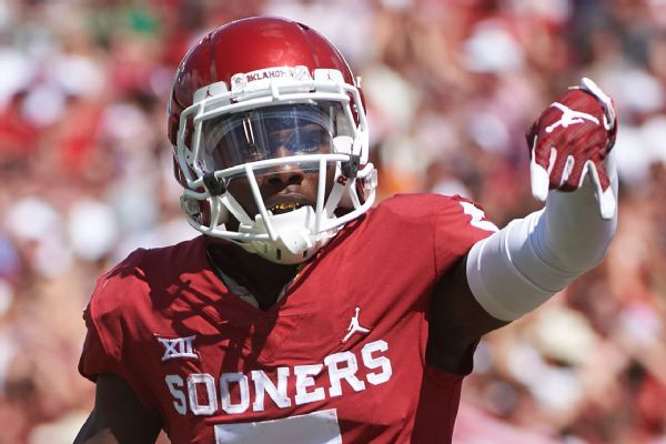 Oklahoma WR Marquise Brown to miss combine, pro day after foot surgery